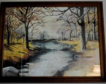 Forever yours, Anna  Vintage Original Framed Painting