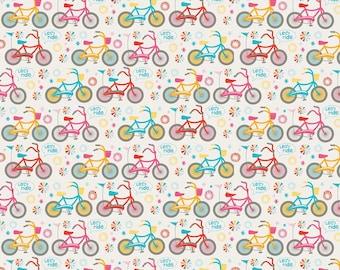 Girl Crazy Bikes (Cream)- Riley Blake