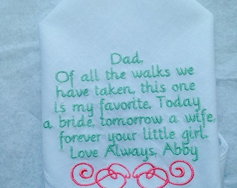 Personalized Handkerchief for Father of Bride