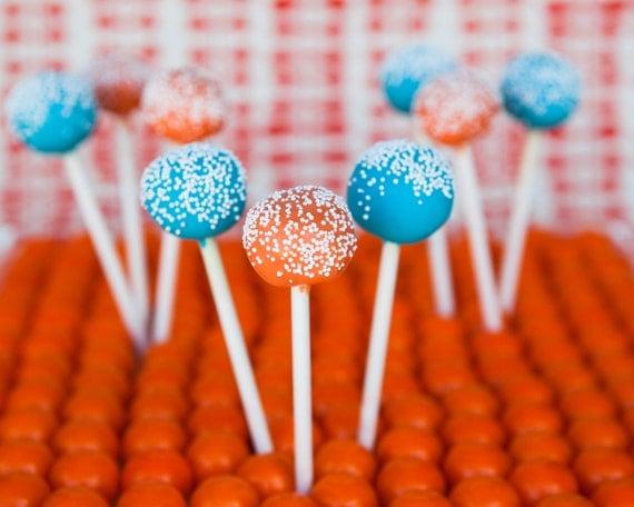 orange and blue cake pop gift set by chicsweets on etsy. Black Bedroom Furniture Sets. Home Design Ideas