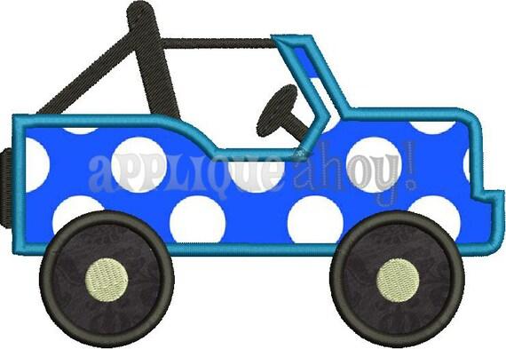 Jeep applique design instant download digital file