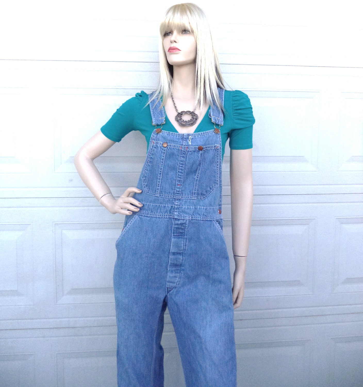 Round house blue denim vintage overalls sz small waist 32 - Roundhouse bib overalls ...