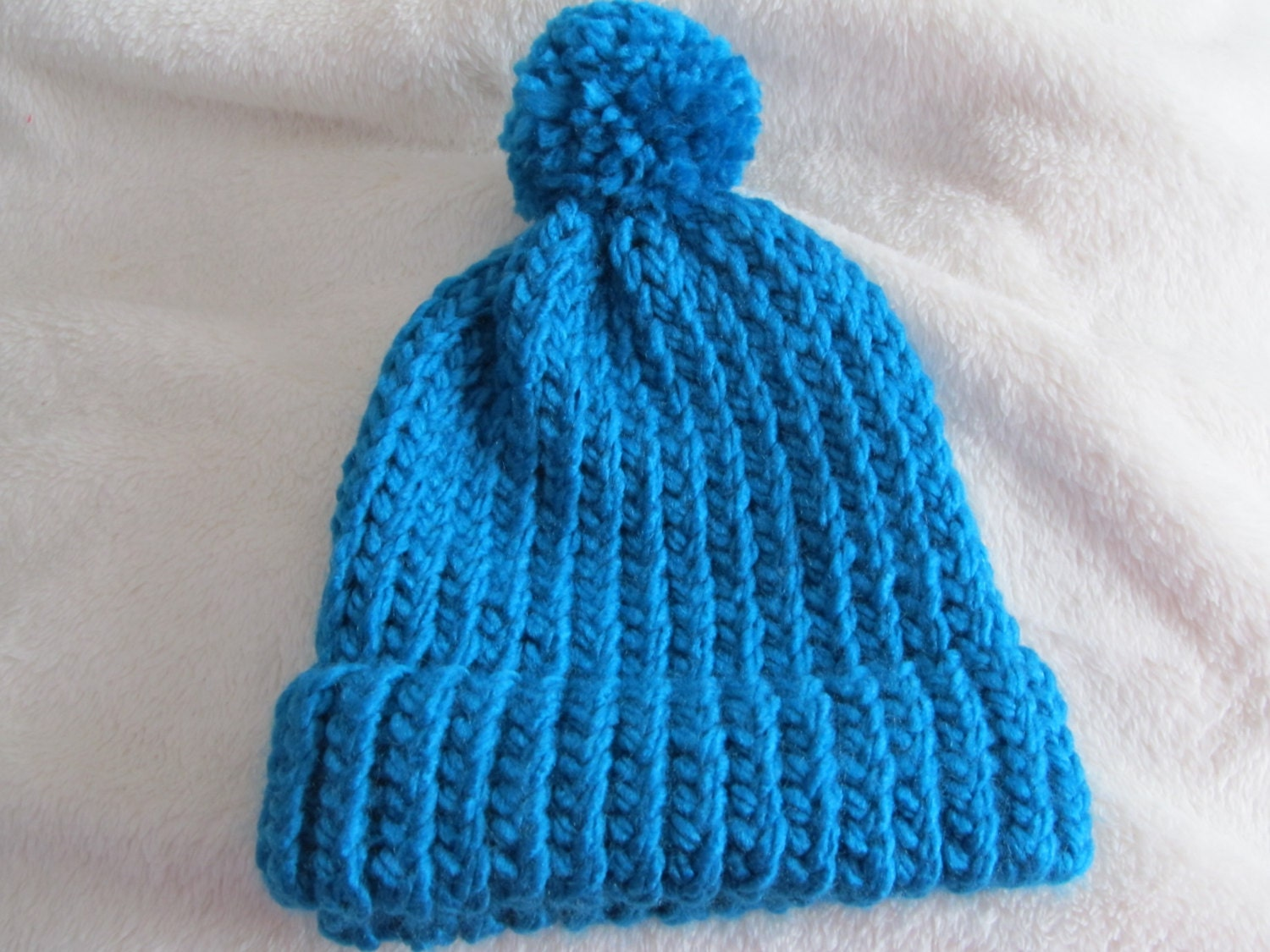 Loom Knitting Questions : Handmade loom knit baby toddler hat