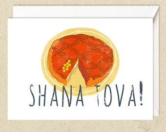 SALE Four cards for Rosh haShanah