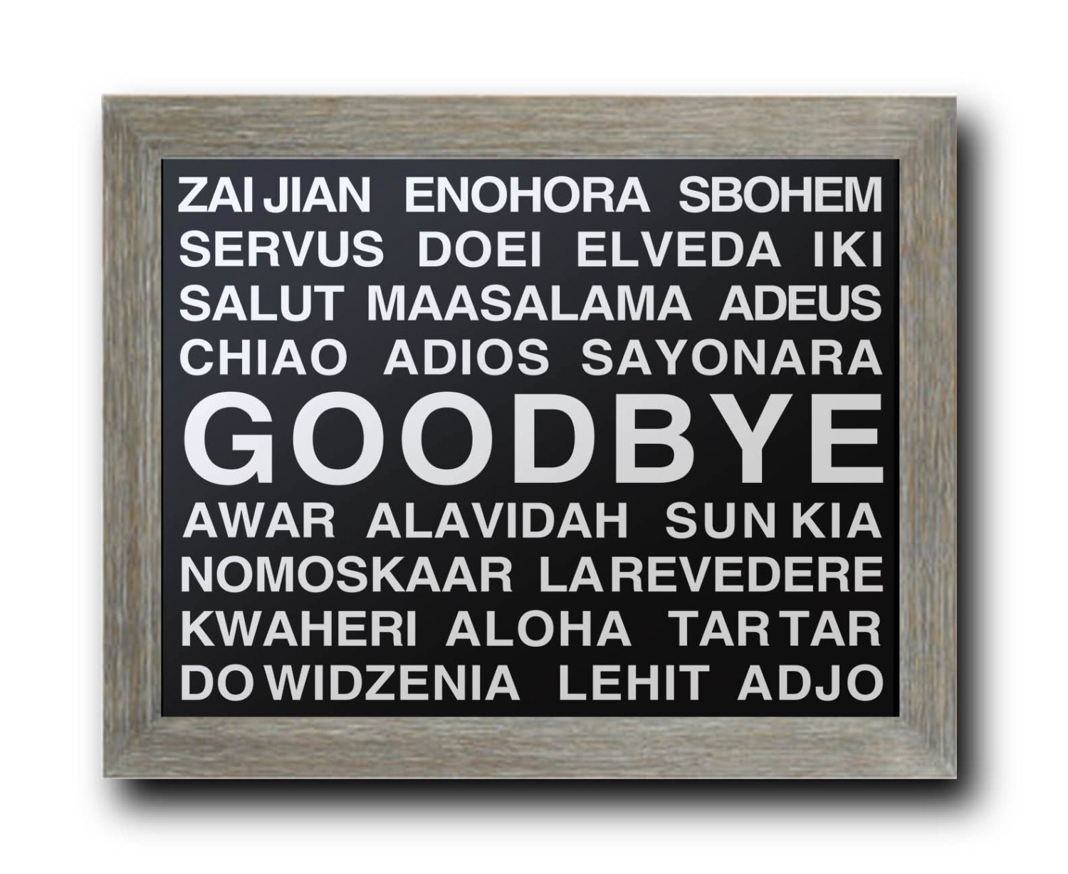 how to say goodbye in different languages