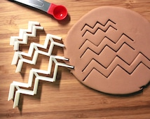 Chevron Open Ended sm med large Fondant cutter Made to order C0105