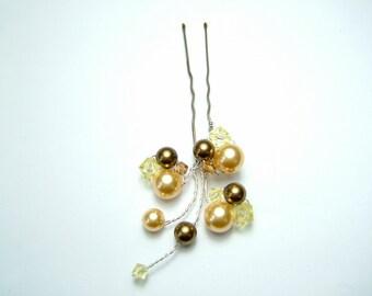 Honeycomb Fan Hair Pin - wedding hair accessory, bridal hair accessory, bridesmaid hair accessory, wedding hair clip