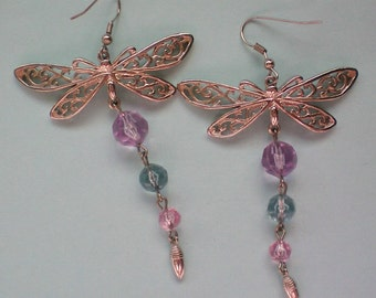 Butterfly Pierced Dangle Earrings - 3176