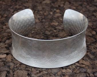 B102  Sterling Silver cuff bracelet, wide cuff
