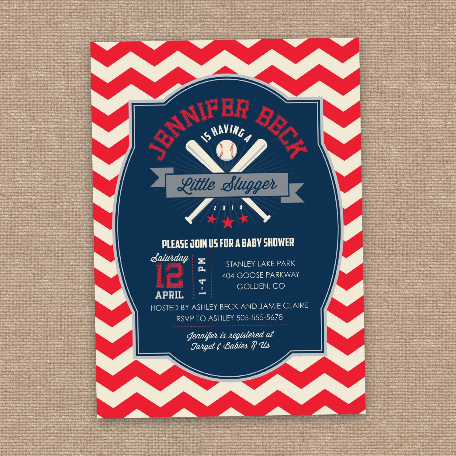 Baseball Baby Shower Invitation Little Slugger By JessicasInvites