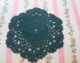 Cotton crochet green doily 5 inches 2 for 5 dollars