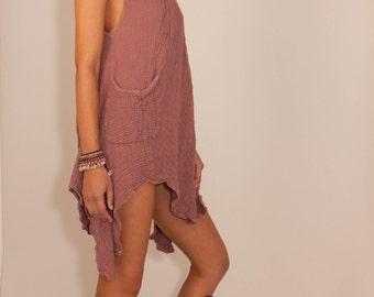 Mokosh Summer Dress in Dusty Rose