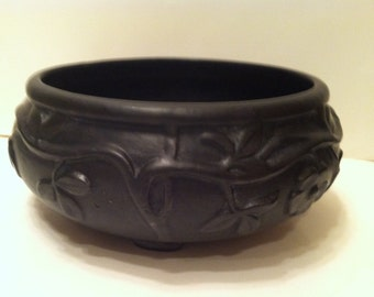 Rare Weller Black Orris Bowl