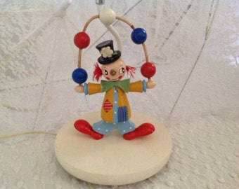 Vintage Irmi Juggling Clown Lamp