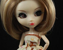 Highlighted blonde bob Wig for Pullip Dolls 1/3 Head size