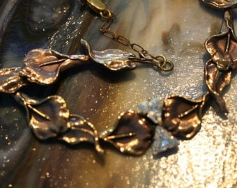 Stunning Vintage Ermani Bulatti Calla Lily Necklace