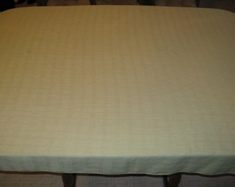 Light green vintage rectangle table cloth cotton