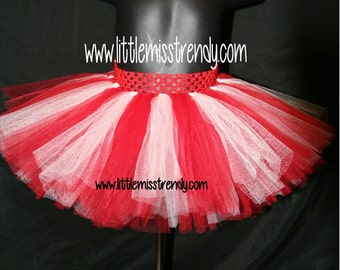 Red and White Tutu, Tutu Skirts, Children's Tutu Skirts, Christmas tutu, Red and White Christmas Tutu