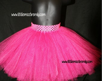 Hot Pink Tutu Skirts, Children's Tutu Skirts, Pink Newborn to 6T Tutus, Pink Tutu