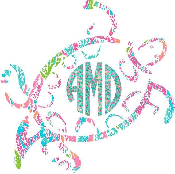 Download Monogram Decal Car Monogram Car Decal Monogram Sea Turtle
