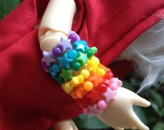 Rainbow Star/Seed bracelets, Yo-SD/MSD sized