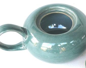 Sugar Bowl - Seafoam - Russel Wright - American Modern - by Steubenville - Vintage