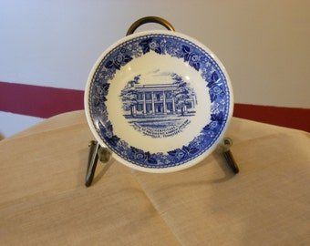 Small English Commemorative Plate of Andrew Jackson's Hermitage