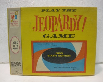 1964 Milton Bradley Jeopardy Game New Sixth Edition Board Game gm444