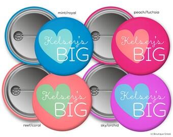 Big Sister Customized Sorority Button