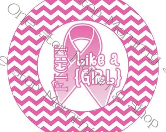 Printable Breast Cancer Awareness canning lid  labels