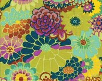 ASIAN CIRCLES Chartreuse GP89 Kaffe Fassett Sold in 1/2 yd increments