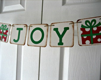 JOY CHRISTMAS BANNER, Christmas Banner Christmas Decorations, Holiday Decor Banners and Garlands Holiday Party, Christmas Party, Photo Prop