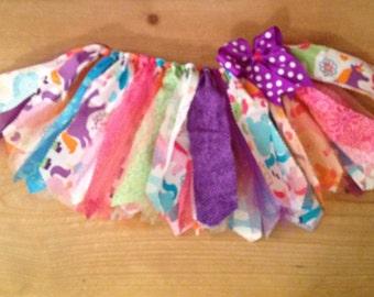 Bright Unicorns Scrap Fabric Tutu