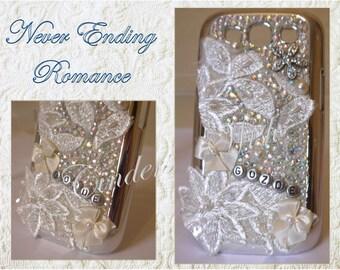 Vintage phone case / bling phone case / personalised phone case / wedding phone case
