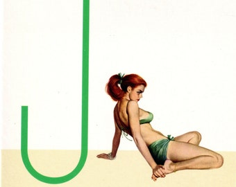 J is for Jealousy Pin-Up Girl Poster