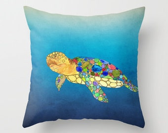 Turtle Pillow Etsy