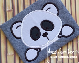 Panda Bear Applique Design