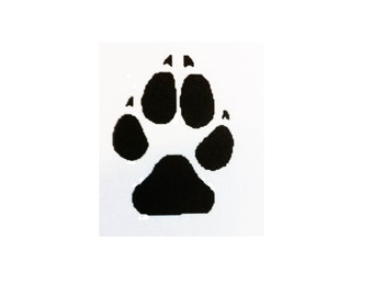 """Wolf Paw Print 3"""" Decal"""
