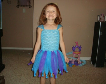 Abby Cadabby inspired Tutu Dress, NEW knotted style, Halloween Costume, Birthday Party, Christmas Gift, Dress Up