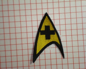Star Trek Medical Officer Embroidered Iron On Patch