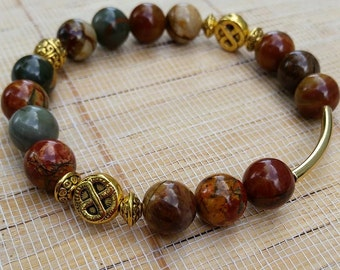 Natural Jasper Beaded Bracelet