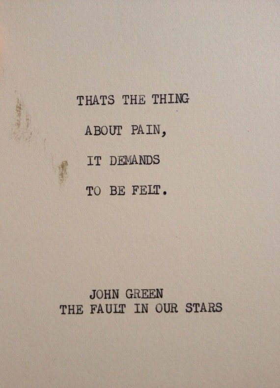 Items similar to THE Fault In Our Stars: Typewriter quote