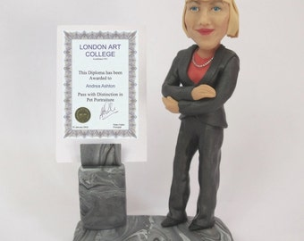 Custom Figurine or Bobblehead - Graduation Gift - Diploma holder - 100% Money-Back Guarantee