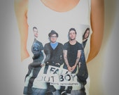 Fall Out Boy Rocker Band Shirt Tank Top Tanktop Tshirt T Shirt Tunic Women Size M,L,XL