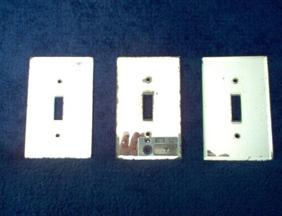 Vintage Mirror Light Switch Plates By Brewtopiantreasures
