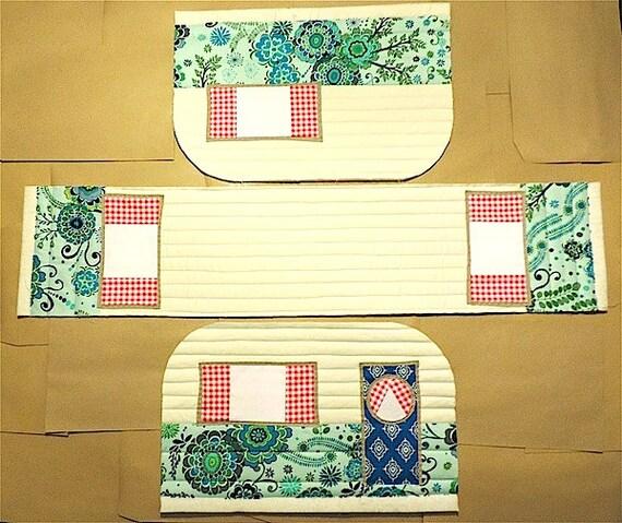 Vintage Caravan Sewing Machine Cover Pattern From
