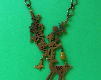 Deer Necklace ~ Southern Chic