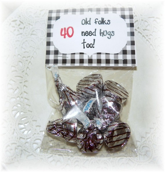 40th Birthday Printable Bag topper,party,favor (DIY)