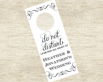 Wedding Hotel Door Hanger Sign