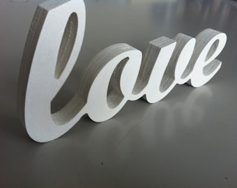 LOVE  wooden letters, wood sign for sweetheart table, wedding sign, valentine sign, gift for wedding